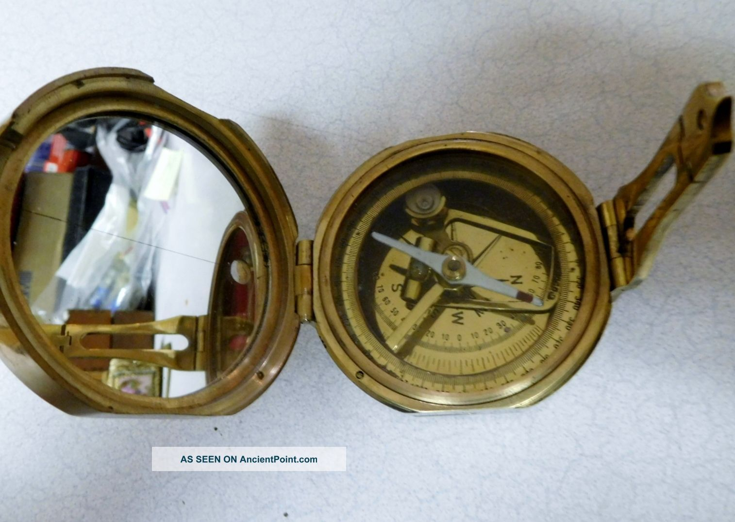 Brass Compass - Natural Sine - Made In India Compasses photo
