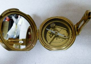 Brass Compass - Natural Sine - Made In India photo