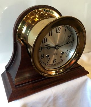 Chelsea Clock Co.  Ships Bell Clock 4 1/2
