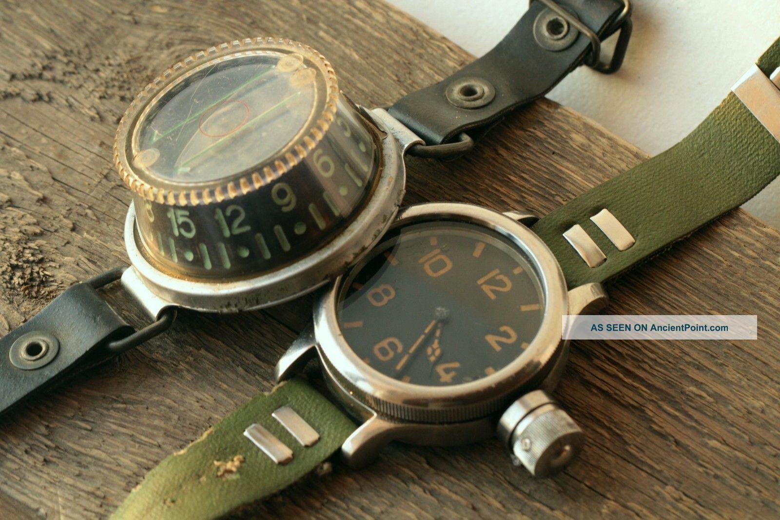 Diver 191 - Ch Vodolaz Zchs Zlatoust Gigantic Watch Scuba And Diving Wrist Compass Clocks photo