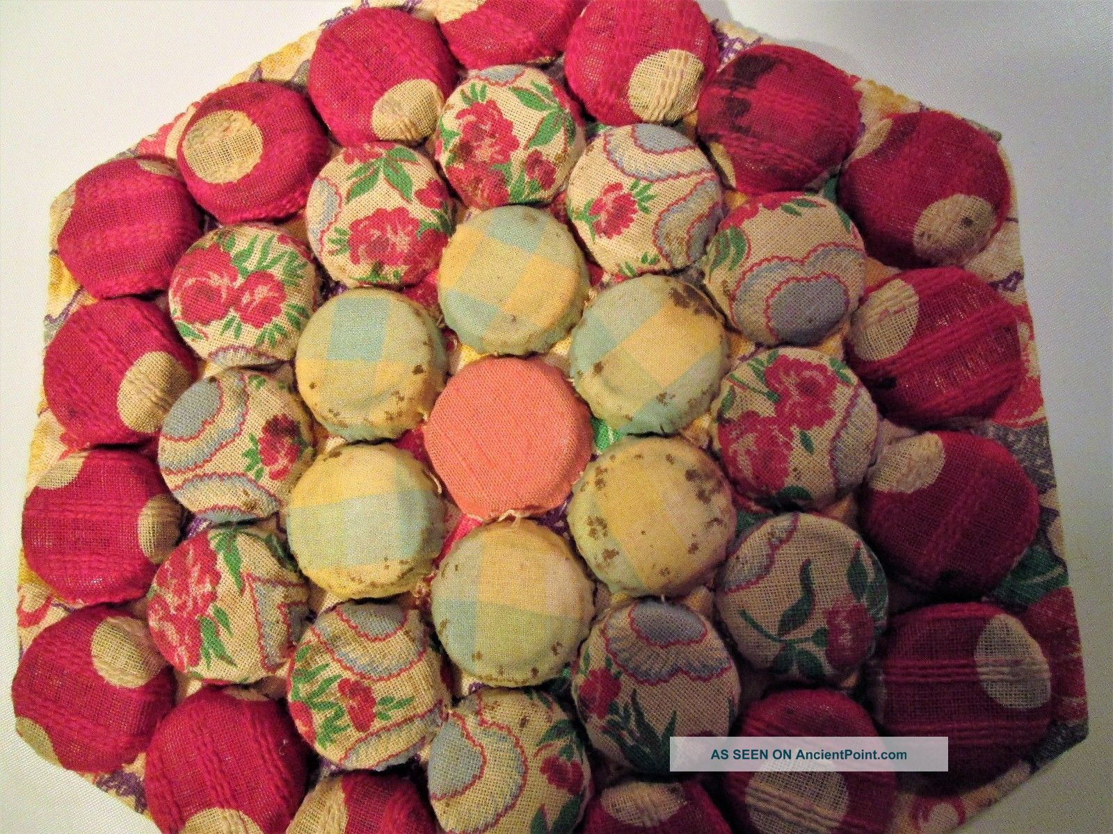 Handsewn Bottlecap Colorful Trivet Trivets photo