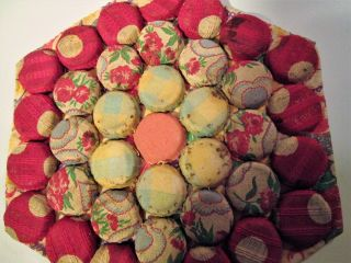Handsewn Bottlecap Colorful Trivet photo