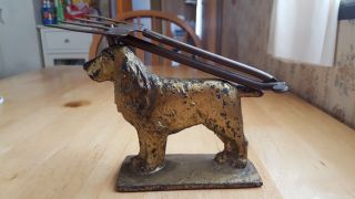 Antique Cast Iron Cocker Spaniel Y.  S.  C.  Toastee Articulated Fireplace Toaster photo
