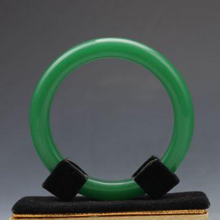 Chinese Hand - Carved Natural Jadeite Jade Bracelet G1003 photo
