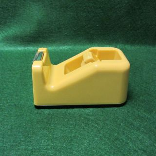 Vintage Scotch Retro/midcentury Tape Despencer In Butterscotch Yellow photo