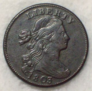 1803 Draped Bust Large Cent Au Detailing Rare S - 254 Variety Authentic Coin photo