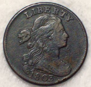 1803 Draped Bust Large Cent Xf Detailing Rare S - 255 Variety Authentic Coin photo