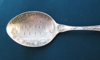 Antique P & B.  925 Sterling Silver Fort Snelling Collector Spoon St,  Paul,  Minn photo