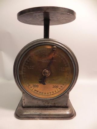 Chatillon Usa Antique Metal Scale Brass Face 500 Gram Capacity Pat.  1925 photo