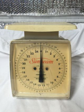 Vintage Sunbeam Scale General Household 25 Lbs.  Usa photo