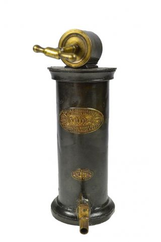 Pewter And Brass Medical Irrigation Tool,  Dr.  Eguisier,  French. photo