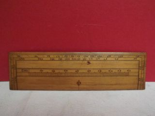 Rule (architects) Navigation (fruitwood) 6 Inch (c1870) Calculator photo