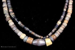 16) Strand Of Pre Columbian Indians Steatite Stone Beads Artifact photo