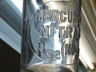 Late 1800 ' S Reagent Mercurous Nitrate Hg2 (no3) 2 Chemical Lab Pharmacy Apothecary photo