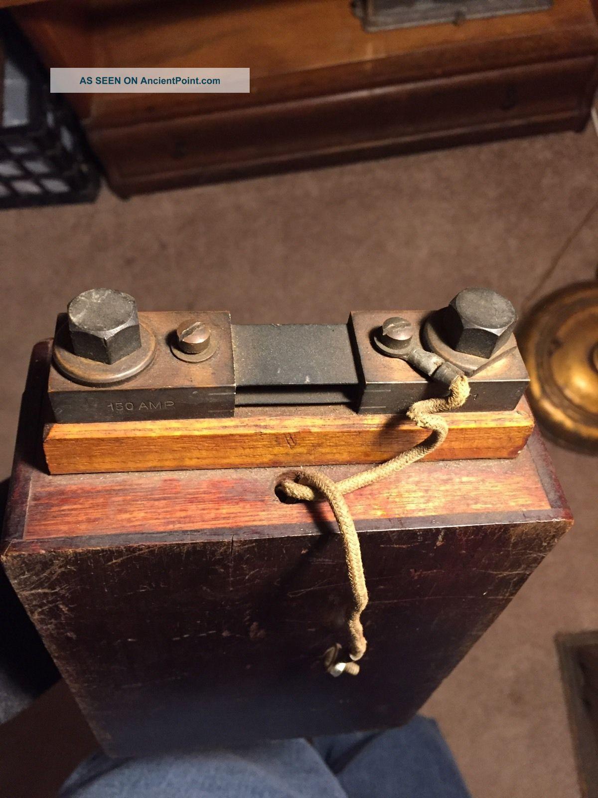 Antique Weston Ammeter Dual Voltmeter In Wood Case Model 267