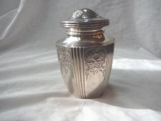 Theodore B.  Starr Sterling Silver Tea Caddy - - Nyc Made - - 1877 - 1900 - - Fifth Ave Shop photo