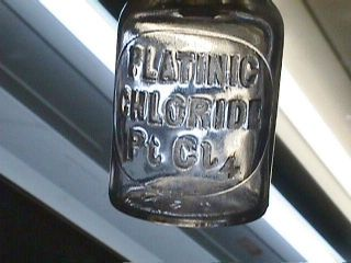 1879 Platinic Chloride Ptcj4 Reagent Chemical Lab Pharmacy Apothecary Bottle photo