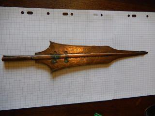 Rare Antique African Ngombe Nkutshu Tetela Congo Spear Head Ceremonial photo