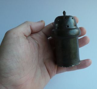 A Pewter Salt Or Pepper Caster From The 18th.  Century With Rosemark. photo