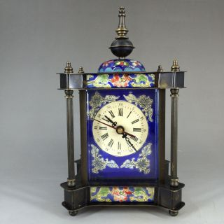 The French Antique Hand Painted Enamel Colors - Clock Nrt photo