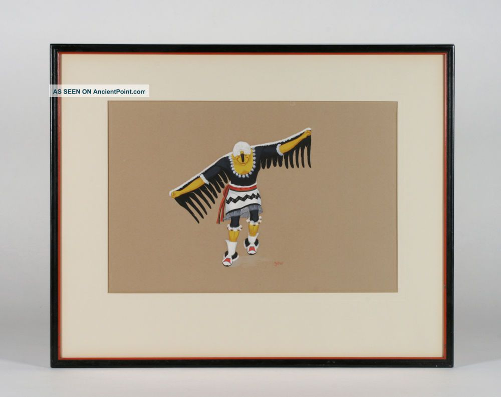 Velino Herrera / Ma - Pe - Wi - Native American Pueblo Painting - Southwest 1940 ' S Native American photo