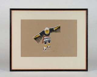 Velino Herrera / Ma - Pe - Wi - Native American Pueblo Painting - Southwest 1940 ' S photo