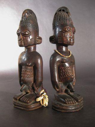 Scarce Ibeji Twins Yoruba Owu Tribe Ibadan Nigeria photo