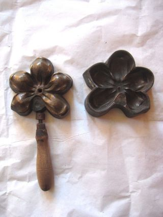 Fantastic Vintage/antique Millinery Orchid Flower Petal Mold Tool Die Bronze? photo