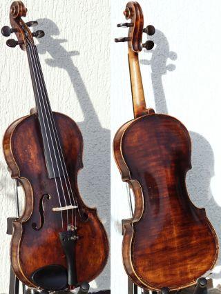 Antique Violin Labelled Franz Geissenhof,  Wien.  Great Tone - Warm,  Mature photo