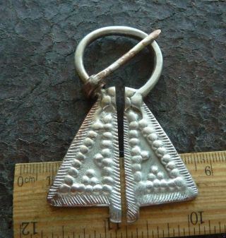 Medieval Solid Silver Fibula (k088). photo