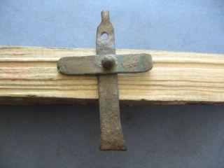 Early Christian Roman Ancient Bronze Cross 2 - 4 Ct.  A.  D. photo