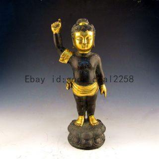 Chinese Bronze Buddhism Sakyamuni Buddha Statue photo