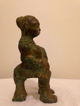 4kg Bronze West African Niger Delta Igbo C19th Fertility Diviners Temple Figure photo