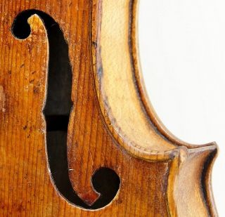 Very Old And Interesting Antique Handmade Violin - Circa 18th Century - photo