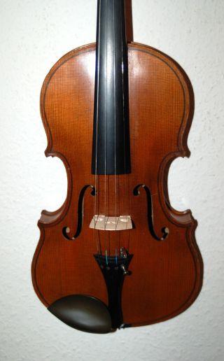 Fine Antique German Handmade 4/4 Fullsize Violin - From Around 1920 photo