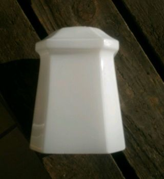 Art Deco Milk Glass Lamp Shade Pendant Light Shade Small 1930s photo