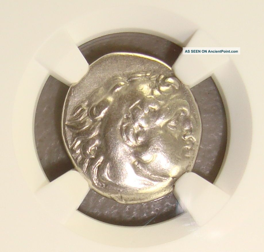 336 - 323 Bc Alexander Iii The Great Ancient Greek Silver Drachm Ngc Vf Greek photo