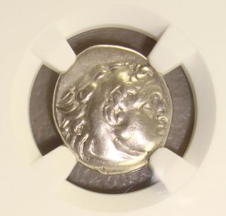 336 - 323 Bc Alexander Iii The Great Ancient Greek Silver Drachm Ngc Vf photo