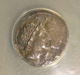108/7 Bc Mn.  Fonteius Ancient Roman Republic Silver Denarius Anacs Vf30 photo