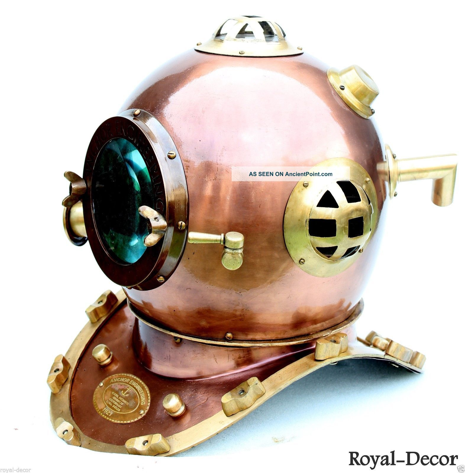 Nautical Sea Deep Diving Scuba Anchor Divers Helmet Ship Collectible Mark V Diving Helmets photo
