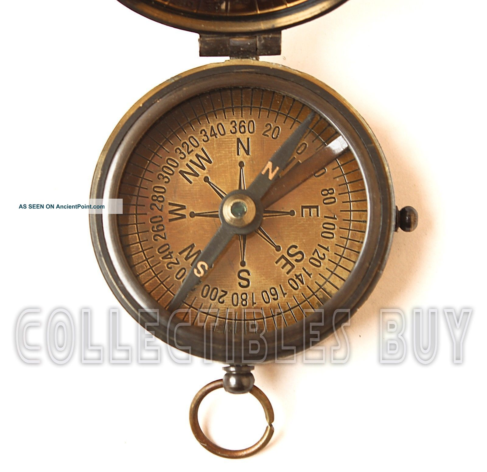 Antique Maritime Calendar Compass Nautical Kelvin & Hughes Compass Trekking Trip Compasses photo