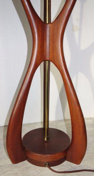 1960 ' S Mid Century Danish Modern Wood Table Lamp - photo