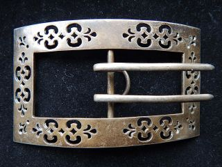 Large Early Gorham Pierced Sterling Silver Women ' S Belt Buckle photo