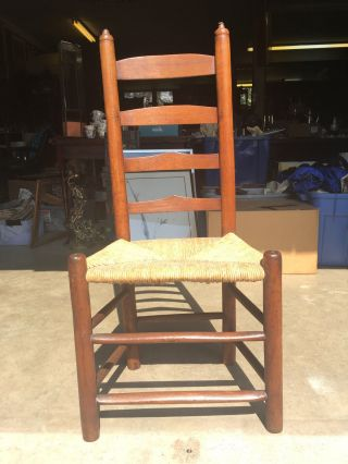 Antique 18th Century American Country Shaker Ladder Back Chair photo