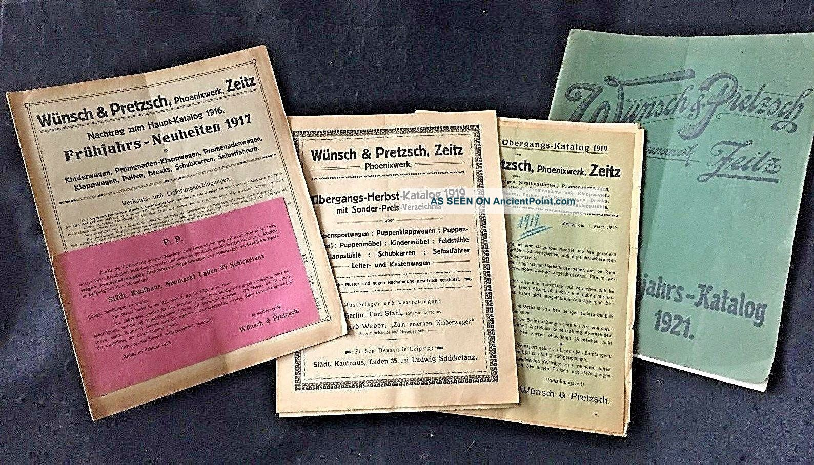 4 German Baby Carriage And Furniture Catalogs.  Circa 1917,  ' 19,  And 1921 Baby Carriages & Buggies photo
