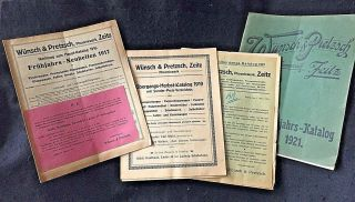 4 German Baby Carriage And Furniture Catalogs.  Circa 1917,  ' 19,  And 1921 photo