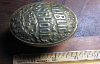 Vintage 1800 ' S City Of York Public School Door Knob Solid Brass photo