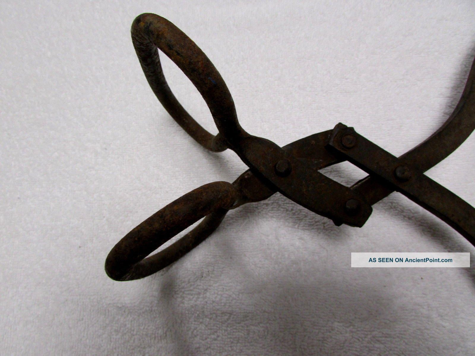 Antique Ice Block Carrier Hook Tongs