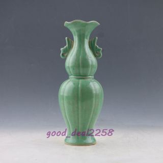 Chinese Chai Kiln Exquisite Porcelain Handwork Vase X0366 photo