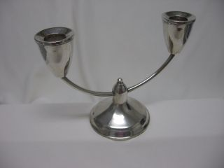 Vtg Sterling Silver Candelabra Duchin Creations 2 Candle Holder Weighted Charity photo